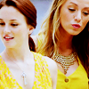 shopfront: Source: Gossip Girl. Serena and Blair walking down a street together, looking at things. (xoxo - [Blair/Serena] ooh shiny)