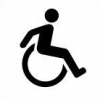 wheelieterp: A new design for the internaitonal symbol for wheelchair, showing a robust user actively pushing the chair (Wheelie Power!)