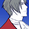truthsnomiracle: Edgeworth stares upward with a near-smile that doesn't reach his eyes. (Is there not a benefit to consider?, Wistful)