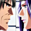 piranha: touya meijin and sai staring at each other (rivals)