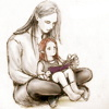grey_gazania: the silmarillion's fëanor reading to a young maedhros (fëanáro reading with nelyo)