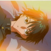 piranha: ryoma lies sideways on his bed and stares at the ceiling (be your pillar of WHAT?)