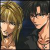 laurose8: sanzo and hakkai (hibiscus)