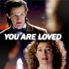 "juniperphoenix: Eleven and River with text: ""You are loved"" (DW: Eleven/River)"