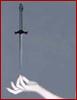 branchandroot: hand balancing a dagger (dagger hand)