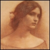 katealaurel: Sepia sketch of a young woman with loosely pulled back long hair, looking pensive. (Default)