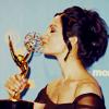 celli: Archie P smooching her Emmy (Emmy Archie)