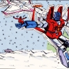ilyena_sylph: Starscream in the midst of transformation, holding a human (Transformers: Starscream transforming)