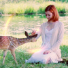 yvi: Willow petting a deer (Buffy - Willow and deer)