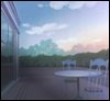 branchandroot: empty veranda at dawn (veranda)