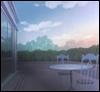 branchandroot: empty veranda at dawn (veranda)