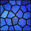 chipb0i: gloomy blue stained glass effect icon (gloomy)