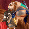 dragovianknight: Two Pandarens snuggling. Platonically. As pandas do. (WoW - snuggles)
