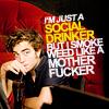 syllic: ([words] social drinker)