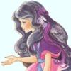 katarik: Lady LovelyLocks: Duchess RavenWaves gesturing (Eat the apple.)