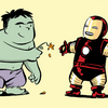 cruelest_month: Hulk and Iron Man (hulk bring flowers)