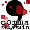 whymzycal: a blood-spattered comma (comma assassin)