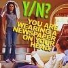 """travelingmonkey: Gilmore Girls; Rory & Lorelei - """"wearing newspaper on head y/n"""" (gg_paperhead)"""