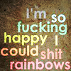 cocoabean: (Text → shit rainbows)