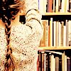 snottygrrl: girl getting books (books and braid by the_muppet)