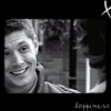 zooey_glass: Dean Winchester looking happily at Sam (SPN: Dean - hell yeah Sammy)