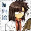 chomiji: Chibi of Tenpou Gensuit from Saiyuki Gaiden, reading a scroll (tenpou - job)