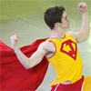 gwenfrankenstien: Javier Fernandez skating dressed as a superhero (toronto cricket club fan club)
