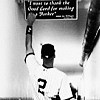 anjak_j: Derek Jeter touching the Joe DiMaggio quote sign (Default)