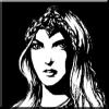 halialkers: Elven maiden, black and white, headdress (Anam)