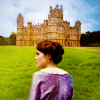 juniperphoenix: Exterior of Downton Abbey with Mary in the foreground (Downton Abbey)