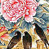 sa_npc: Chinese portrait of a flower and three birds (Su Li's Family)