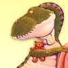 jenna_thorn: T-Rex holding a teddy bear (dinobear)