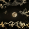 paleo: a beautiful full moon with clouds (moon)