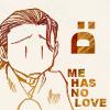 chomiji: Chibi of Saiyuki's Hazel with a sad face and the caption Me haz no love (Hazel - no love!)