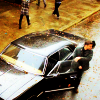 snickfic: Dean getting out of Impala in the rain (Impala)