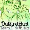 outstretched: Jake English grinning as Dirk Strider kisses his hand. (HMSTK ♥ [DirkJake] You're the dream and)