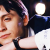 sandoz_iscariot: A young man looks thoughtful, his chin resting on his hand. (Scott Pilgrim: Wallace in Blue) (Default)