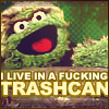 gloraelin: Oscar the Grouch: I live in a fucking TRASHCAN! (Oscar)