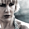 frayadjacent: Close up of late-season Gabrielle in black & white (Xena: Gabrielle)