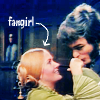 "apollymi: Quentin kissing a woman's hand, text points to woman and reads ""fangirl"" (DS**Quentin: Werewolf of choice)"