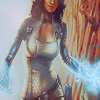 highways: [Fanart of Miranda Lawson from Mass Effect 2, lighting coming from her hands.] (MASS EFFECT ☌ into near-certain death.)