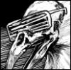 phrenotobe: A bird skull wearing shutter shades. (Tethra)