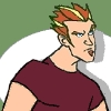 fierynotes: Picture of Hotstreak, from the cartoon Static Shock.  He looks annoyed. (annoyed)