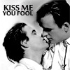 kindkit: Paul McDermott and Tim Ferguson almost kissing (DAAS: Kiss me you fool)