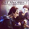 """dubhartach: Dukat and Weyoun looking at Siskos baseball.  Caption  """"just an object"""" (just an object)"""