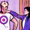 goodbyebird: Hawkeye: Kate play-punches a patched-up Clint on the jaw. (C ∞ bitch)