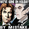 "rob_t_firefly: The Eighth and alt!Ninth Doctors, captioned ""We've gone on holiday by mistake."" (drwho - withnail)"