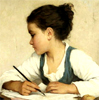 linaewen: Girl Writing (Girl Writing)