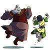 terajk: Iroh and Toph dancing (iroh & toph: Dancing)