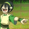 terajk: Toph pointing and laughing. TEXT: Fail (toph: fail!)